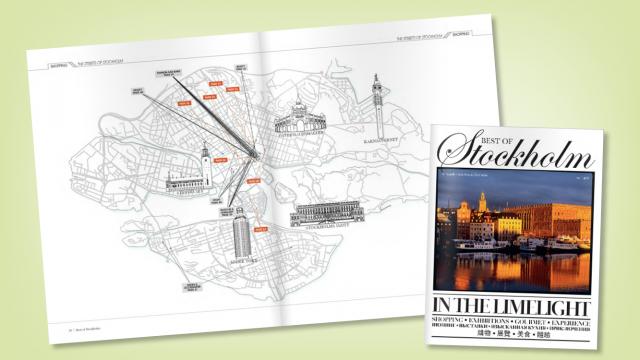 Illustration till turisttidningen Best of Stockholm